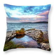 Rocky Pools Of Salty Sea Throw Pillow