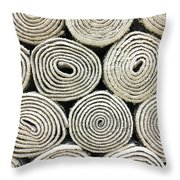 Rolled Rugs Background Throw Pillow