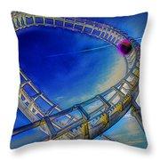 Roller Coaster Ocean City Md Throw Pillow by Paul Wear