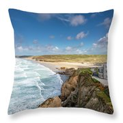 Rolling Waves Throw Pillow