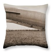 Roma Dirigible At Bolling Field Air Throw Pillow