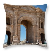 Roman Arched Entry Throw Pillow by Mae Wertz