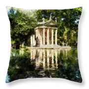 Rome, Ancient Temple Of Aesculapius - 04 Throw Pillow
