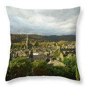 Rooftops Of Ambleside In Early Morning In The Lake District Throw Pillow