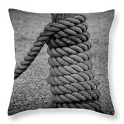Rope And Post Throw Pillow by Mark Miller