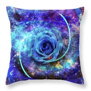Rosa Azul Throw Pillow by Kenneth Armand Johnson
