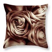 Rose Carmine Throw Pillow