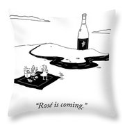 Rose Is Coming Throw Pillow