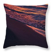 Rosy Tide Throw Pillow