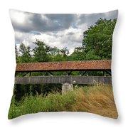 Rothenburg Covered Bridge Throw Pillow