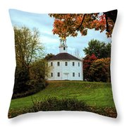 Round Church Of Richmond Vermont Throw Pillow by Jeff Folger