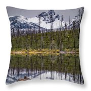 Round Lake Reflection Throw Pillow