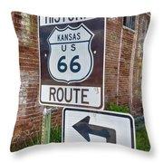 Route 66 - Kansas #1 Throw Pillow