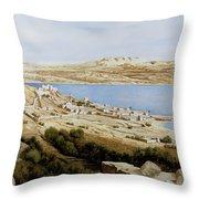 rovine a Tiberiade Throw Pillow