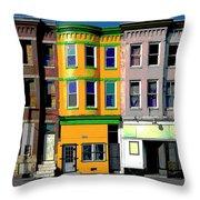 Row Houses Baltimore Throw Pillow
