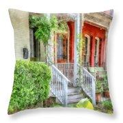 Row Houses Washington Dc Throw Pillow