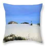 Rrippled Sand Dunes In White Sands National Monument, New Mexico - Newm500 00111 Throw Pillow