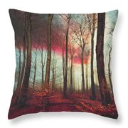 Ruby Red Evening Throw Pillow