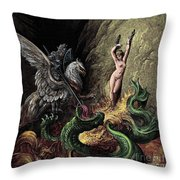 Ruggiero Rescuing Angelica Throw Pillow