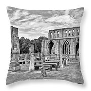 Ruins Of A Cathedral, Elgin Cathedral Throw Pillow