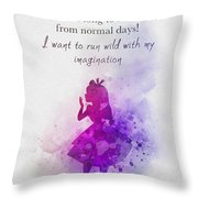 Run Wild With Your Imagination Throw Pillow
