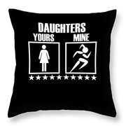 Runner Mom Dad Gift Parent Of Track And Field Daughter Throw Pillow