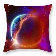 Ruptured Moon Throw Pillow