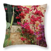 Rustic Life - Flowers Throw Pillow