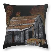 Rusty Autumn Colours Throw Pillow by Richard Le Page