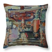 Rusty Engine  Throw Pillow
