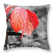 Rusty Leaves Throw Pillow