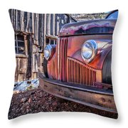 Rusty Old Truck In A Ghost Town In Arizona Throw Pillow