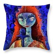 Sally  Throw Pillow by Al Matra