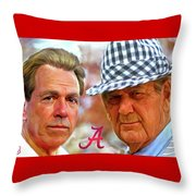 Saban And Bear Throw Pillow