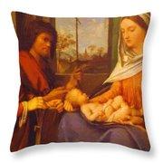 Sacred Conversation 1505 Throw Pillow