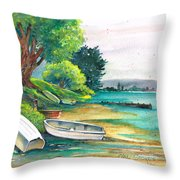 Safe Mooring-whangamata Harbour. Throw Pillow