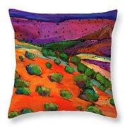 Sage Slopes Throw Pillow