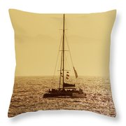 Sailing In The Sunlight Throw Pillow