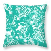 Sailing Scenes Throw Pillow