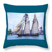 Sailing With Pride Throw Pillow
