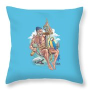 Sailor On Anchor Throw Pillow