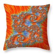 Saint Georges Vanquished Dragon Fractal Abstract Throw Pillow by Rose Santuci-Sofranko