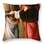 Saint John The Evangelist And Saint Augustine Throw Pillow