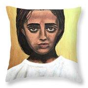 Saint Maria Goretti Throw Pillow
