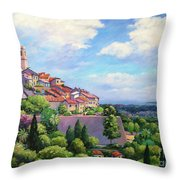 Saint Paul De Vence Throw Pillow