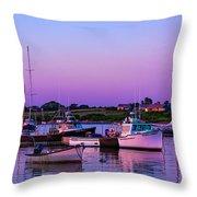 Sakonnet Point Boats Throw Pillow