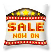 Sale Theatre Marquee Throw Pillow