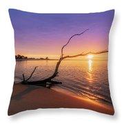Salisbury Beach Sunrise Throw Pillow by Michael Hubley