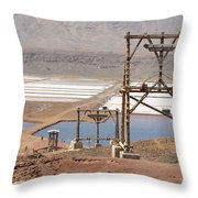 Salt Pans And 200 Yr Old Cable Car Winches Throw Pillow