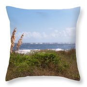 Salty Island Breeze Over Breach Inlet Throw Pillow